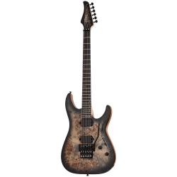 Schecter C-6 Pro FR Elektro Gitar (Charcoal Burst)
