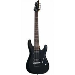 Schecter C-7 Deluxe 7 Telli Elektro Gitar (Satin Black)