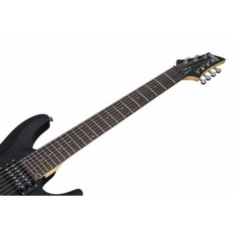 Schecter C-7 Deluxe 7 Telli Elektro Gitar (Satin Black)<br>Fotoğraf: 2/4