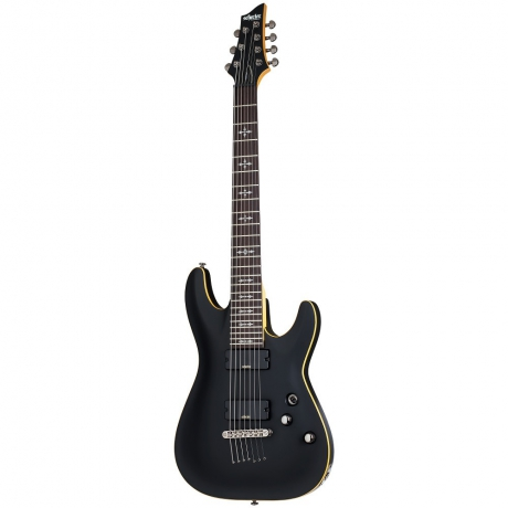 Schecter Demon-7 7 Telli Elektro Gitar (Aged Black Satin)<br>Fotoğraf: 1/4