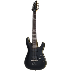 Schecter Demon-7 7 Telli Elektro Gitar (Aged Black Satin)