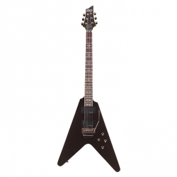 Schecter Demon V-1 Fr Elektro Gitar (Metallic Black)