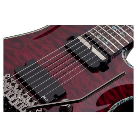 Schecter Hellraiser C-7 FR S 7 Telli Elektro Gitar (Black Cherry)<br>Fotoğraf: 3/6