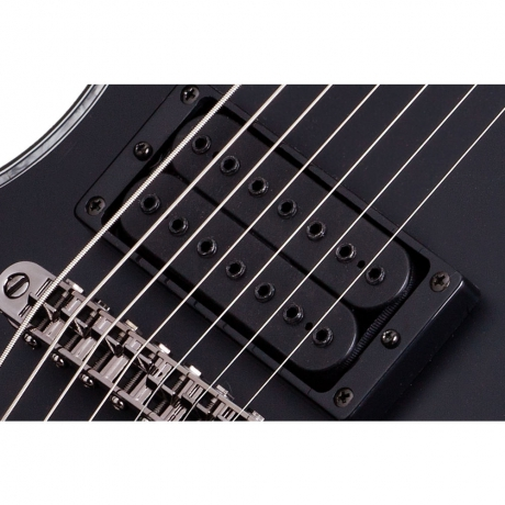 Schecter Hellraiser E-7 Passive 7 Telli Elektro Gitar (Mat Siyah)<br>Fotoğraf: 4/8