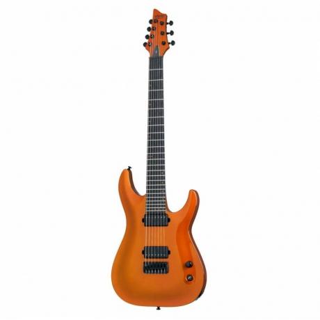 Schecter Keith Merrow KM-7 Elektro Gitar ( Lambo Orange)<br>Fotoğraf: 1/5