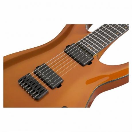 Schecter Keith Merrow KM-7 Elektro Gitar ( Lambo Orange)<br>Fotoğraf: 5/5