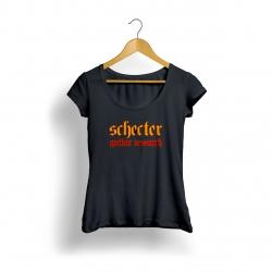 Schecter Logo Kadın T-Shirt (Siyah)