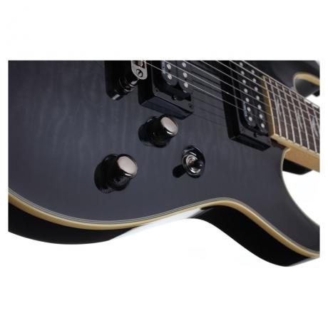 Schecter Omen Extreme 7 Telli Elektro Gitar (See-Thru Black)<br>Fotoğraf: 3/6