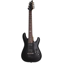 Schecter SGR C-7 7 Telli Elektro Gitar (Gloss Black)