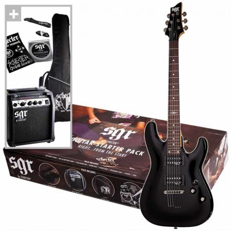 Schecter SGR Sunset Elektro Gitar Başlangıç Seti<br>Fotoğraf: 1/4