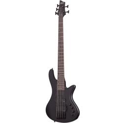 Schecter Stiletto Stealth-5 Satin Black Bass Gitar