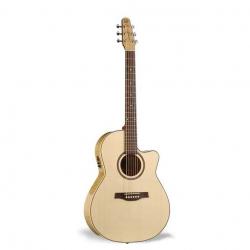 Seagull Performer Cutaway Folk Flame Maple QI Elektro Akustik Gitar