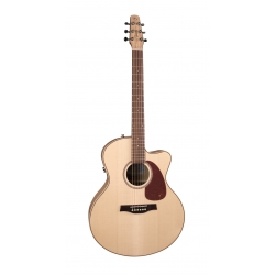 Seagull Performer Cutaway Folk Flame Maple QI Elektro Akustik Gitar (Natural)
