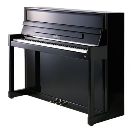 Seiler Model 116 Impuls Akustik Duvar Piyanosu (Siyah)<br>Fotoğraf: 1/1