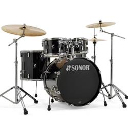 Sonor AQ1 Stage Akustik Davul Seti (Piano Black)