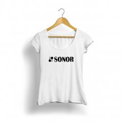 Sonor Logo Kadın T-Shirt (Beyaz)