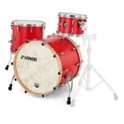 Sonor SQ1 322  Akustik Davul Seti (Hot Rod Red)