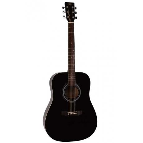SX SA1 SK BK Dreadnought Akustik Gitar Seti<br>Fotoğraf: 1/5