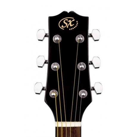 SX SA1 SK BK Dreadnought Akustik Gitar Seti<br>Fotoğraf: 4/5