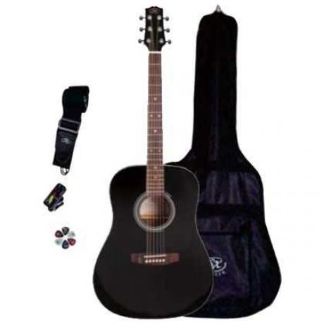 SX SA1 SK BK Dreadnought Akustik Gitar Seti<br>Fotoğraf: 5/5