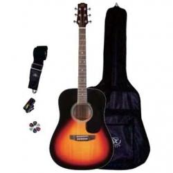 SX SA1 SK VS Dreadnought Akustik Gitar Seti