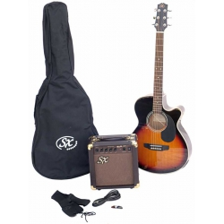 Sx SA3-SK-VS Elektro Akustik Gitar Seti