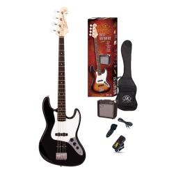 SX SB1-SK-BK Bas Gitar Seti