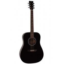 SX SD1 BK Dreadnought Akustik Gitar