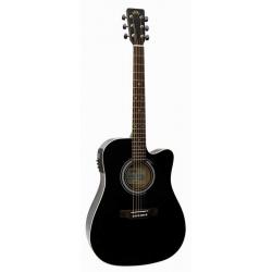 Sx SD1-CE-BK Cutaway Elektro Akustik Gitar