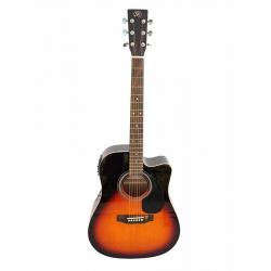 Sx SD1-CE-VS Cutaway Elektro Akustik Gitar