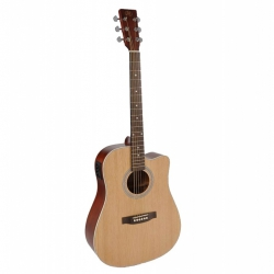 SX SD204CE Cutaway Elektro Akustik Gitar (Natural)