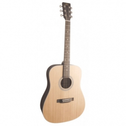 SX SD204TBK Dreadnought Akustik Gitar