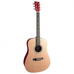 SX SD204TRD Akustik Gitar (Trans Red)