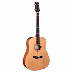 SX SD204TRD Dreadnought Akustik Gitar (Trans Red)