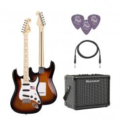 SX SST/ALDER/3TS Elektro Gitar Seti (3 Ton Sunburst)