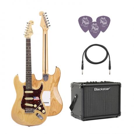 SX SST/ASH/R/NA Elektro Gitar Seti (Natural)<br>Fotoğraf: 1/1