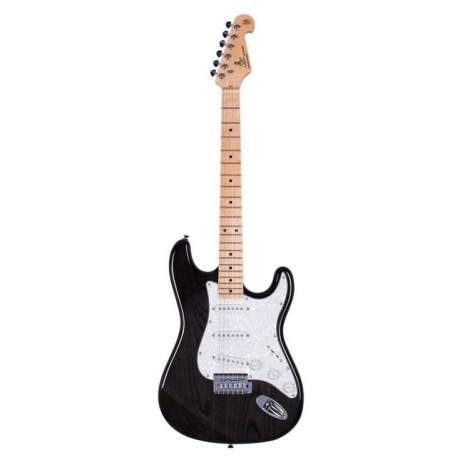 SX SST Stratocaster Elektro Gitar (Trans Black)<br>Fotoğraf: 1/1