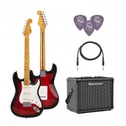 SX SST57 2TS Stratocaster Elektro Gitar Seti (Vintageburst)