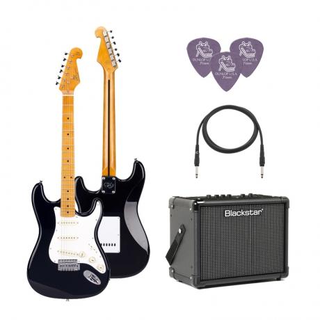 SX SST57 /BK Elektro Gitar Seti (Siyah)<br>Fotoğraf: 1/1