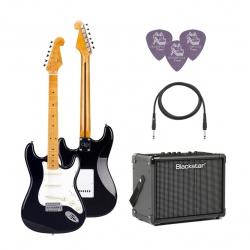 SX SST57 /BK Elektro Gitar Seti (Siyah)