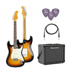 SX SST62 /3TS Elektro Gitar Seti (Sunburst)