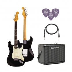 SX SST62 /BK Elektro Gitar Seti (Siyah)
