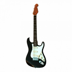SX SST62 BK Stratocaster Elektro Gitar