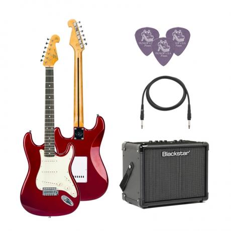 SX SST62 /CAR Elektro Gitar Seti (Kırmızı)<br>Fotoğraf: 1/1
