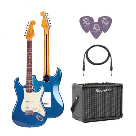 SX SST62 /LPB Elektro Gitar Seti (Mavi)<br>Fotoğraf: 1/1
