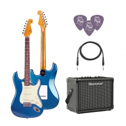 SX SST62 /LPB Elektro Gitar Seti (Mavi)