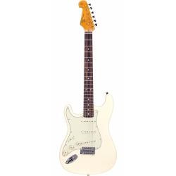 SX SST62 Stratocaster Solak Elektro Gitar (Vintage White)