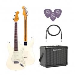 SX SST62 /VWH Elektro Gitar Seti (Beyaz)