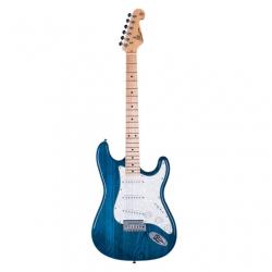 SX Stratocaster Elektro Gitar (Trans Blue)