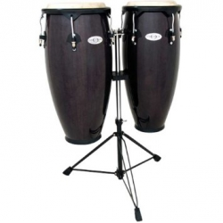 Toca Synergy 10+11'' w/Double Stand - Transparent Black